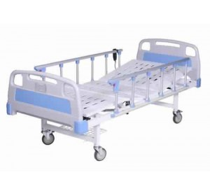 Wellton Healthcare Electric Full Fowler Hospital Bed with Steel Railing Remote operated