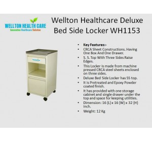 Wellton Healthcare Deluxe Bed Side Locker WH1153